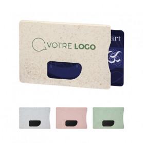 Porte-cartes RFID en paille de blé Protea