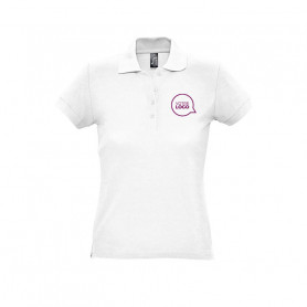 Polo femme Passion blanc