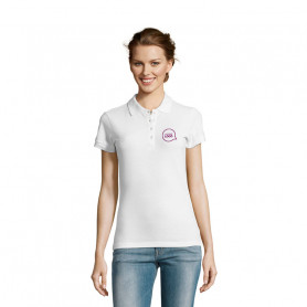 Polo femme People blanc