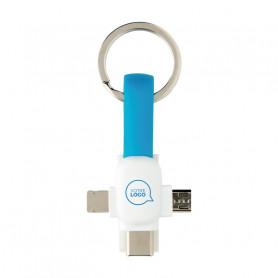 Porte-clés câble USB 3 en 1 Marley