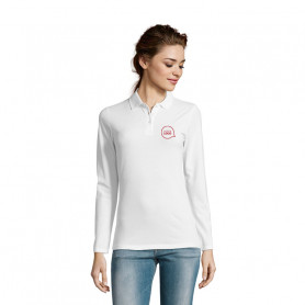 Polo manches longues Perfect Women blanc