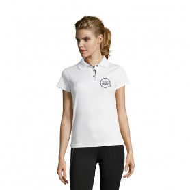 Polo respirant Performer Women blanc
