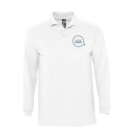 Polo manches longues homme Winter II blanc