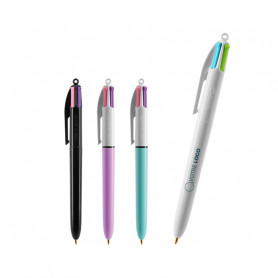 Stylo Bic 4 Colours Fashion