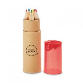 Set de 6 crayons de couleurs avec taille-crayon Calvin