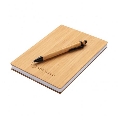 Ensemble carnet et stylo en bambou MADEG
