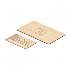 Carte anti-RFID en bambou LENA