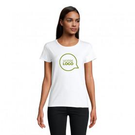 Tee-shirt coton bio Crusader Women blanc