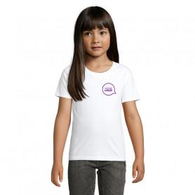 Tee-shirt coton bio Pioneer Kids blanc