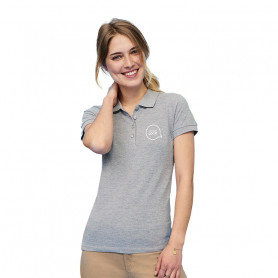Polo femme People couleur