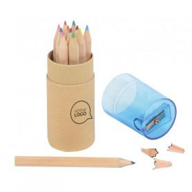 Set de 12 crayons de couleurs avec taille-crayon Calvin
