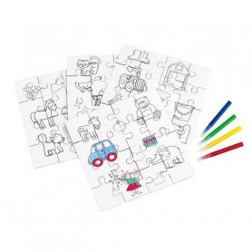 Set de 4 puzzles à colorier Nerina