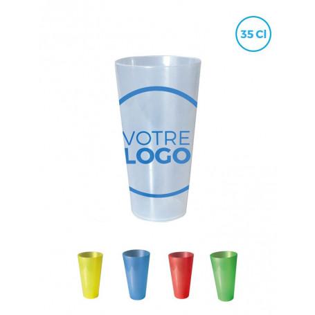 Gobelet réutilisable 35 cl transparent