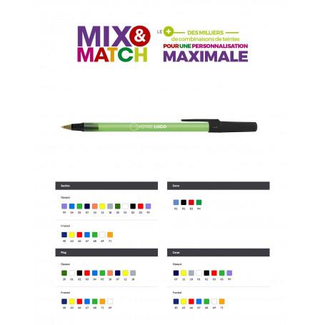 Stylo Bic Round Stic Mix&Match