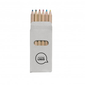 Etui coloriage Abigail 6 crayons