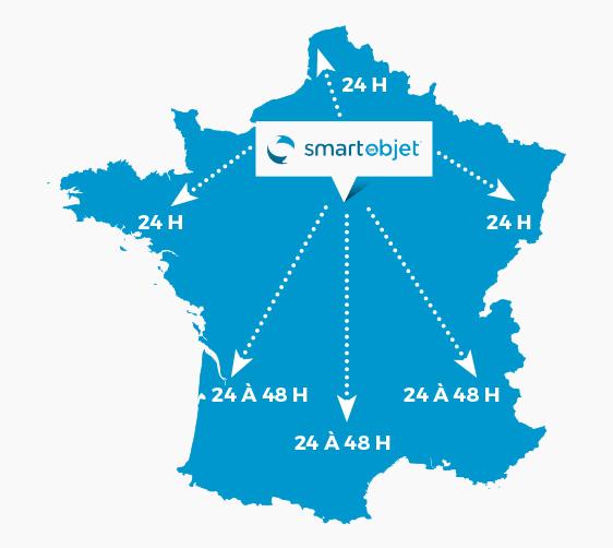 carte des délais France métropolitaine